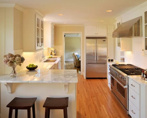 Small Kitchen Peninsula Home Design Ideas Pictures