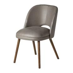 leather dining room chairs fuzzy feet chair gliders 50 most popular for 2019 houzz design tree midcentury modern barrel backed gray