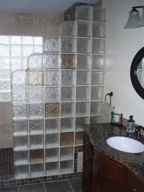 Glass Block Shower Ideas Pictures Remodel and Decor