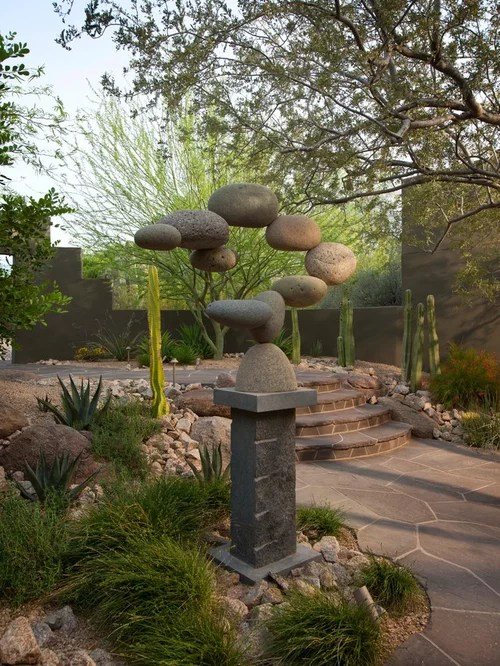 stone sculpture garden home design