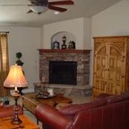 Hybrid Log House On Golf Course Traditional Living Room Denver By Sitka Log Homes