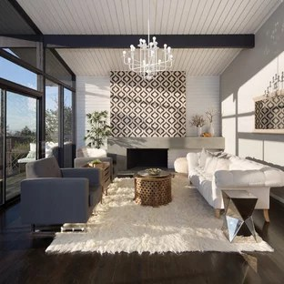 living rooms with dark wood floors drapes room floor ideas photos houzz example of a mid sized danish open concept and formal brown