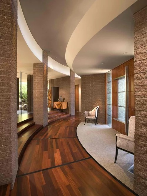 Curved Brick Steps Home Design Ideas Pictures Remodel and Decor