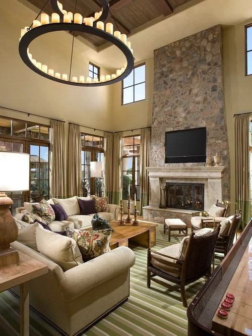 living room lighting ideas cathedral ceiling small with dining table mediterranean design ideas, remodels & photos ...