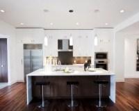 White And Brown Kitchen | Houzz