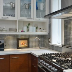 Wood Countertops Kitchen Average Cost Of Small Remodel Square Tile Backsplash | Houzz