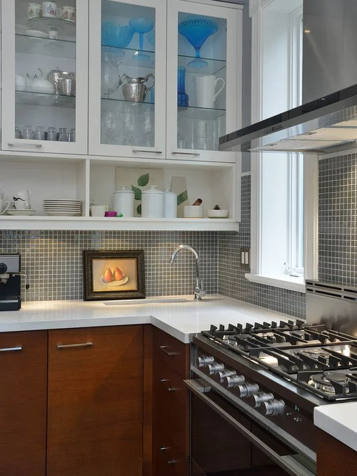 flat front kitchen cabinets hanging light fixtures for square tile backsplash | houzz