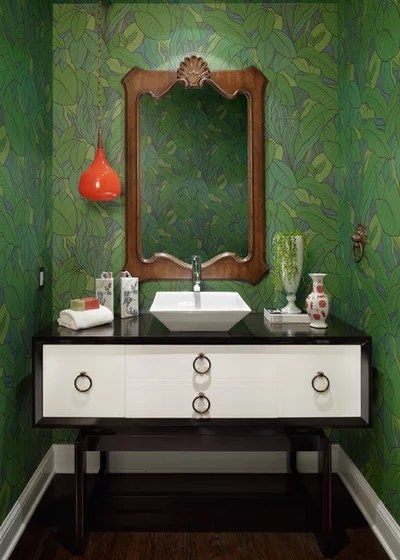 Contemporary Powder Room by Halo Interior Design
