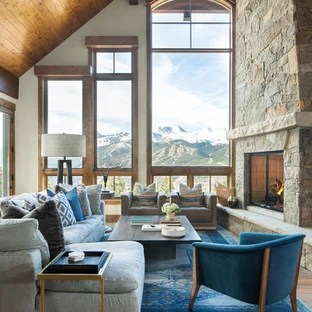 rustic living room designs outdoor 75 most popular design ideas for 2019 stylish mountain style medium tone wood floor and brown photo in denver with white