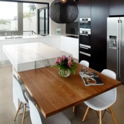Kitchen Island And Table Sanding Restaining Cabinets Dining Houzz Mid Sized Trendy L Shaped Porcelain Floor Enclosed Photo In Sydney With Flat