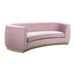 Pink Sofas Modern Black Leather Sofa With Chrome Legs 50 Most Popular Couches For 2019 Houzz Meridian Furniture Julian Velvet Gold Base