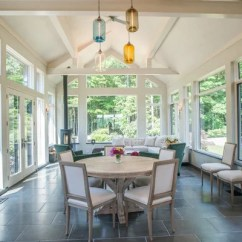 Living Room Designs With Wood Stove Furniture Color Ideas 25 All-time Favorite Farmhouse Sunroom | Houzz