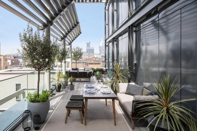 Contemporary Balcony by Gunter & Co Interiors Ltd