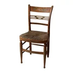 Rush Seat Chairs Table And Chair Rentals Las Vegas 50 Most Popular For 2019 Houzz Unknown Consigned Antique Stenciled Dining