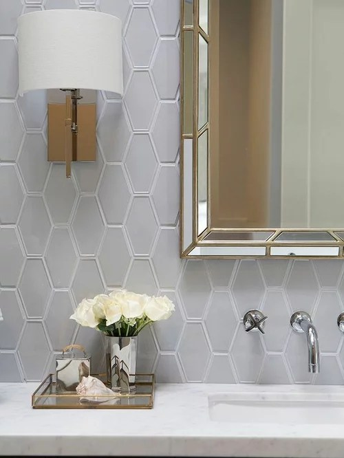 Grey And White Bathroom Houzz