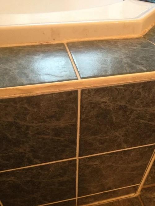 renewing yellowed tile edging