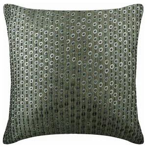 silver throw pillow cover sequins silk