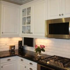 Kitchen Backsplash Trim Ideas Country Lighting Beveled Subway Tile Ideas, Pictures, Remodel ...