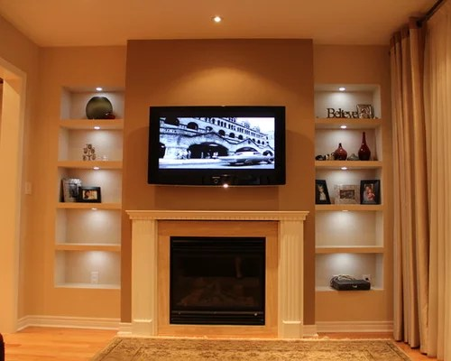 transitional style living room large window treatment ideas drywall shelves ideas, pictures, remodel and decor