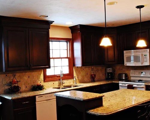Tumbled Stone Backsplash Home Design Ideas Pictures Remodel and Decor