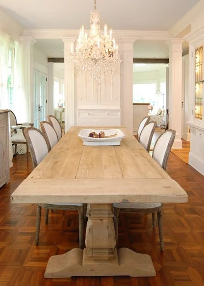 Shabby-chic Style Dining Room Traditional Dining Room