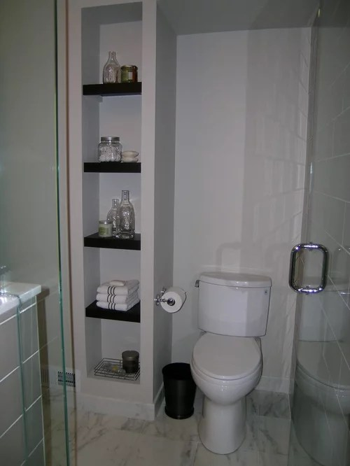 Open Bathroom Shelving Ideas Pictures Remodel and Decor