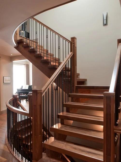 Craftsman Stair Railing Houzz   Craftsman Style Stair Railing