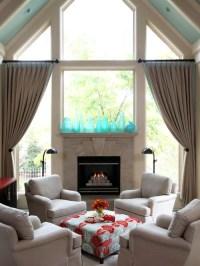 Window Above Fireplace | Houzz