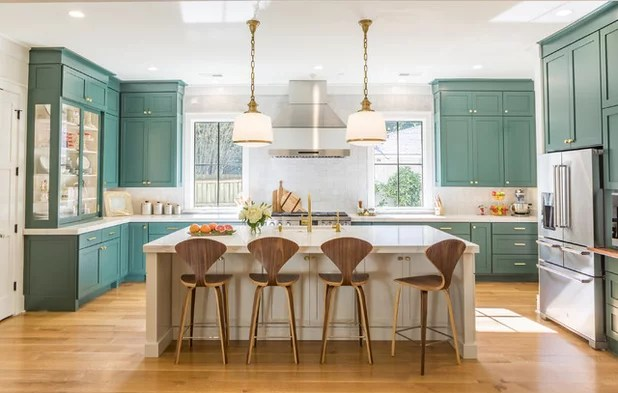 green kitchen cabinets how much does a remodel cost is this the year blue and edge out white