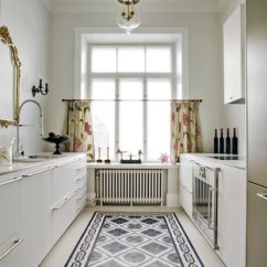 Kitchen Floor Composite Sink Tile With White Cabinets Houzz Transitional Designs Example Of A Galley Design In London An Undermount