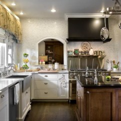 Stainless Steel Farmhouse Kitchen Sink Childrens Play Sets Black Vent Hood | Houzz