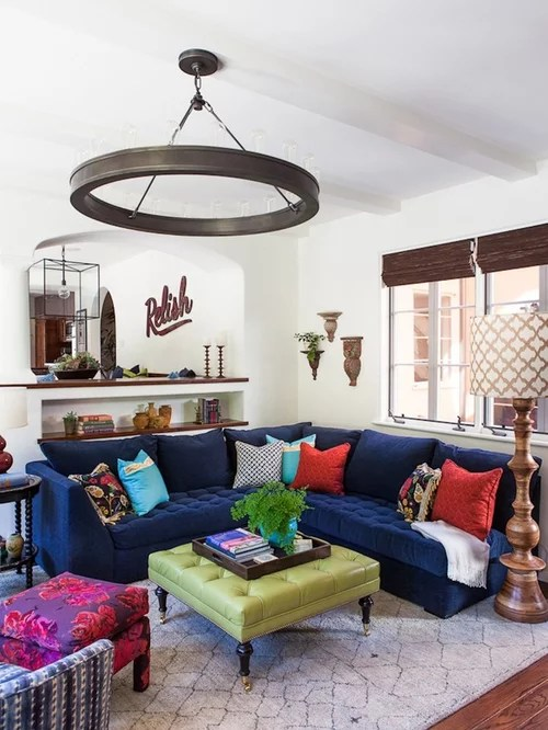 crushed velvet chair convertible high chairs best navy blue sofa design ideas & remodel pictures | houzz