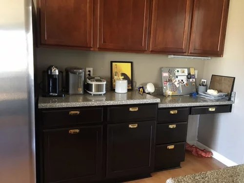 kitchen desk rustic cabinets need help to convert counter