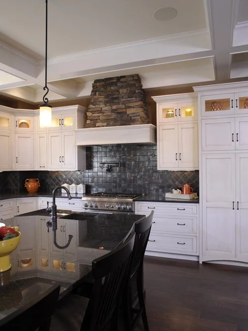 kitchen cabinets columbus ohio brushed nickel faucet stone vent hood | houzz