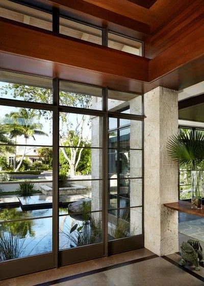 Asiático Hall y pasillo by Mary Washer Designs