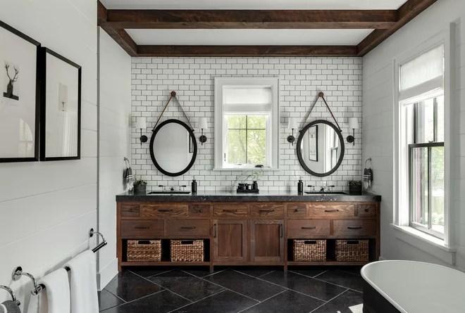 Farmhouse Bathroom by Crisp Architects