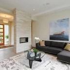 Asymmetrical Overhaul Modern Living Room Vancouver By Klondike Contracting
