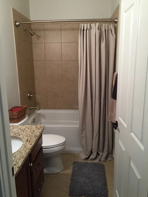 height of shower curtain rod