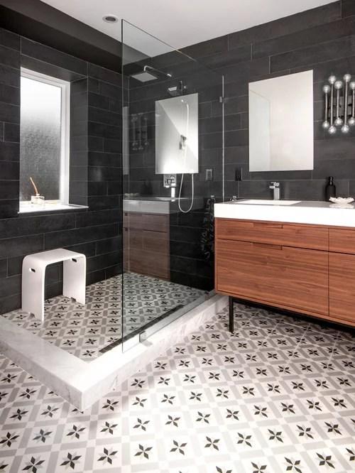 Cement Tile Floor  Houzz