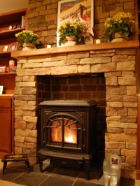 Faux Stone Fireplace | Houzz