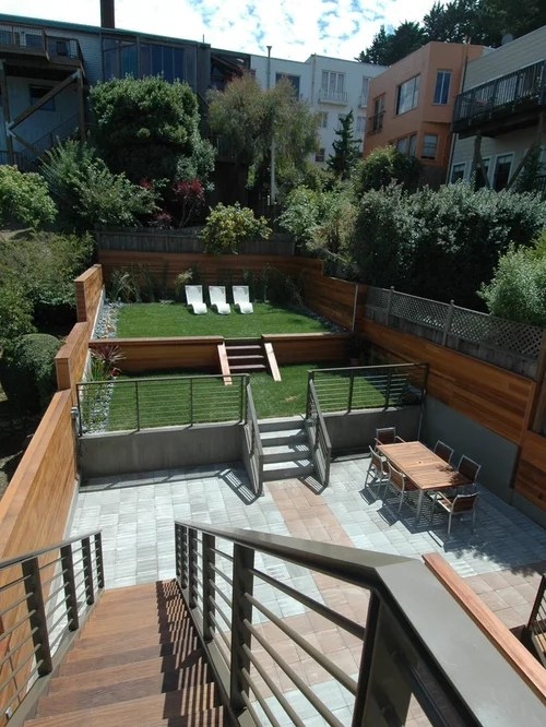 Bi Level Backyard Ideas Pictures Remodel And Decor