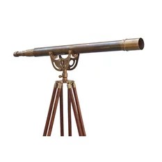 Handheld Telescope W Leather Case 12x Magnification 15