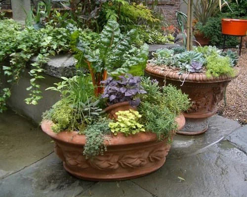 Herb Garden Container Ideas Pictures Remodel And Decor
