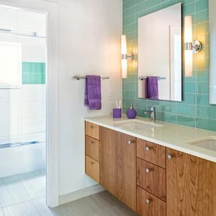 kitchen cabinets newark nj custom built aqua tile backsplash | houzz