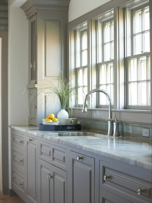 Brown Grey Cabinets  Houzz