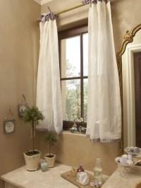 Bathroom Window Curtain | Houzz
