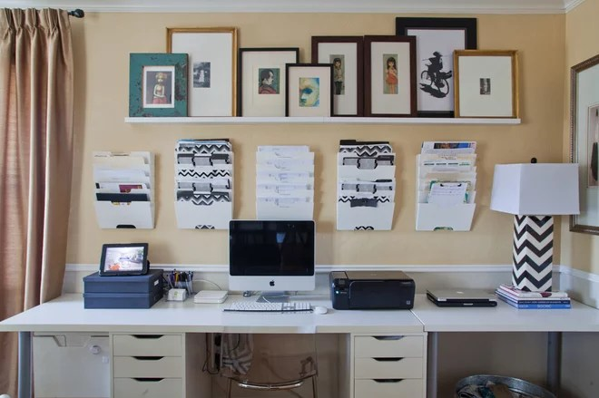 Traditional Home Office by A. Peltier Interiors