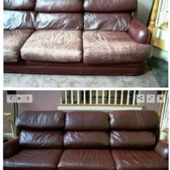 Reupholster Sofa In Leather Purple Round Chair I Don T Know Where You Live But Might Try A Franchised Company Called Medic And See If They Can Refurbish Your