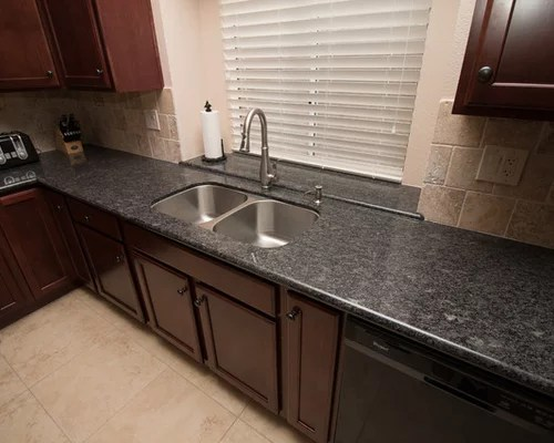 kohler undermount kitchen sink mobile islands silver pearl granite design ideas & remodel pictures | houzz