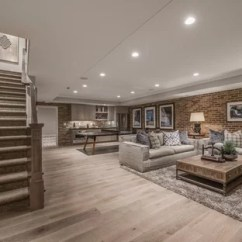 Living Room Ideas With Light Wood Floors Screen 75 Most Popular Floor Basement Design For 2019 Example Of A Large Classic And Brown In Salt Lake